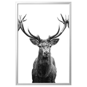 БЬЁРКСТА Картина с рамой, Рога/цвет алюминия 118x78 см | 392.977.69