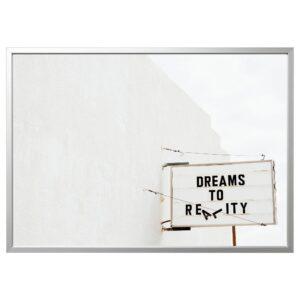 БЬЁРКСТА Картина с рамой, Dream/цвет алюминия 140x100 см | 692.977.82