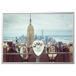 БЬЁРКСТА Картина с рамой, Смотровая площадка/цвет алюминия 140x100 см   992.978.27