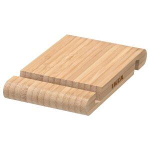 БЕРГЕНЕС Подставка для смартфона/планшета, бамбук | 504.580.01