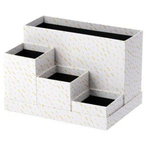 ТЬЕНА Подставка д/канцелярских принадлежн, белый/точечный 18x17 см | 304.340.49