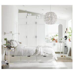 ОПХУС Гардероб с 9 дверями, белый Саннидаль/белый 300x57x271 см | 193.030.02
