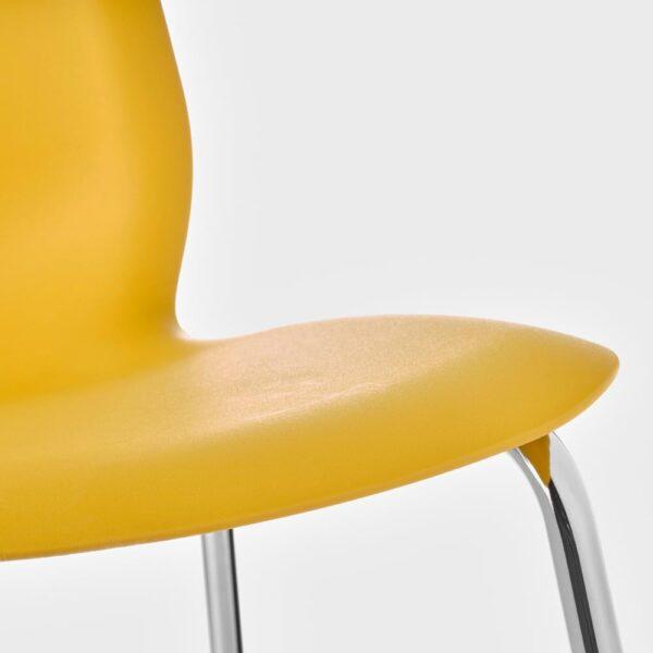 ЛЕЙФ-АРНЕ Стул, темно-желтый/Брур-Инге хромированный | 993.042.05
