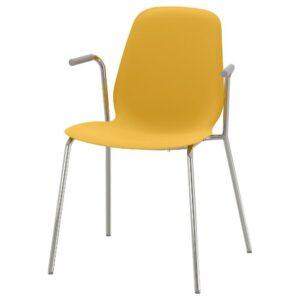 ЛЕЙФ-АРНЕ Легкое кресло, темно-желтый/Дитмар хромированный | 993.042.10