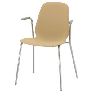 ЛЕЙФ-АРНЕ Легкое кресло, светлый оливково-зеленый/Дитмар хромированный | 793.041.88
