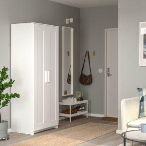 БРИМНЭС Шкаф платяной 2-дверный, белый 78x190 см | 804.004.81