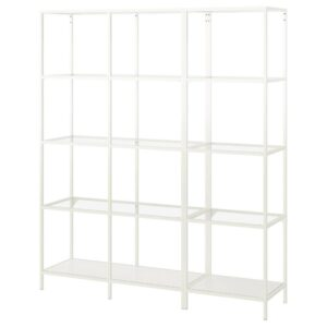 ВИТШЁ Шкаф, белый/стекло 151x36x175 см | 292.945.25