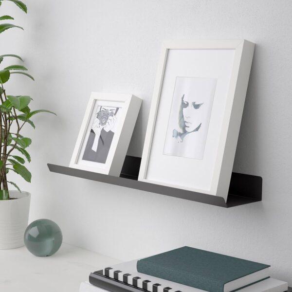 МАЛЬМБЭКК Полка-витрина, темно-серый 60 см | 004.463.41