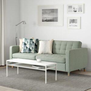 ЛАНДСКРУНА 3-местный диван-кровать, Гуннаред светло-зеленый/дерево   493.198.79
