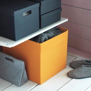 ДРЁНА Коробка, оранжевый 33x38x33 см | 604.439.76