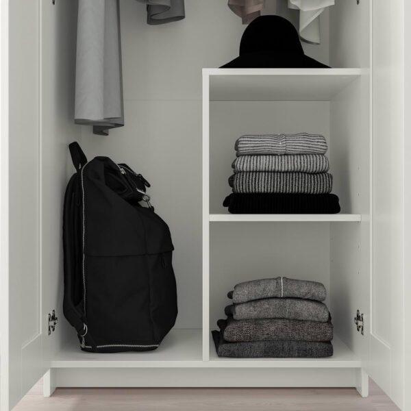 БРИМНЭС Шкаф платяной 2-дверный, белый 78x190 см   804.004.81