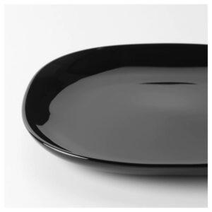 БАККИГ Тарелка, черный 25x25 см - 404.390.51
