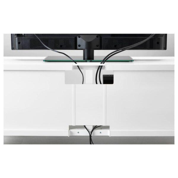 БЕСТО Шкаф для ТВ, комбин/стеклян дверцы, белый Лаппвикен/Нотвикен серо-зеленый 240x42x190 см - 593.026.42