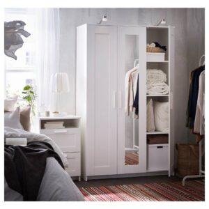 БРИМНЭС Шкаф платяной 3-дверный, белый 117x190 см | 904.079.29