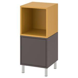 ЭКЕТ Комбинация шкафов с ножками, темно-серый/золотисто-коричневый 35x35x80 см - 692.864.20