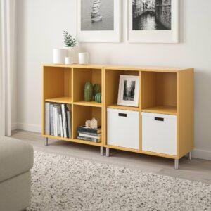 ЭКЕТ Комбинация шкафов с ножками, золотисто-коричневый 140x35x80 см - 992.864.85