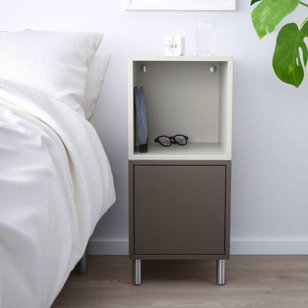 ЭКЕТ Комбинация шкафов с ножками, темно-серый/светло-серый 35x35x80 см - 092.864.23