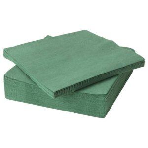 ФАНТАСТИСК Салфетка бумажная, темно-зеленый 40x40 см 50 шт - 204.259.98