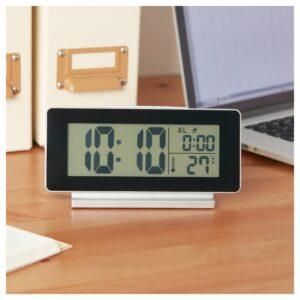 ФИЛЬМИС Часы/термометр/будильник, черный - 904.467.42