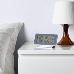 ФИЛЬМИС Часы/термометр/будильник, серый - 904.515.40
