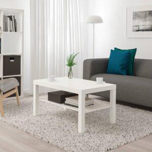 ЛАКК Журнальный стол, белый 90x55 см - 504.499.07