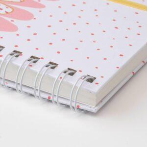 ЛАНКМОЙ Книжка для записей, белый/зеленый розовый 17x13 см - 204.340.40