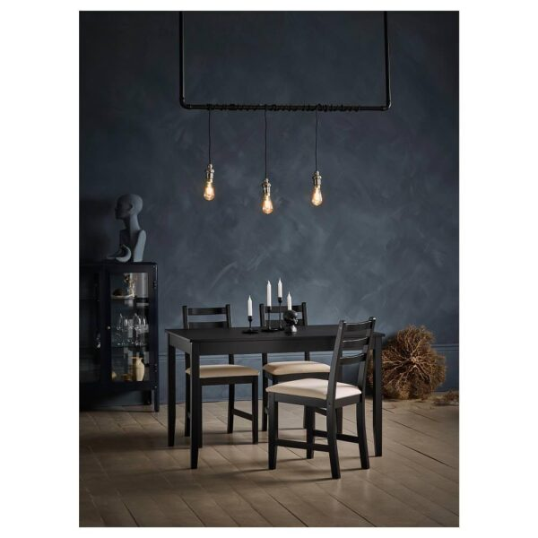 ЛЕРХАМН Стол, черно-коричневый 118x74 см - 404.443.02
