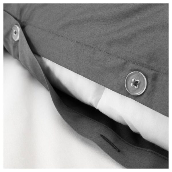 ЛЮКТЭСМИН Пододеяльник и 1 наволочка, темно-серый 150x200/50x70 см - 404.425.53