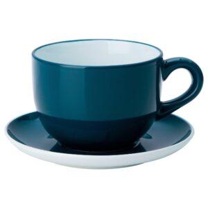 НОРДБИ Чашка чайная с блюдцем, темная бирюза 73 сл - 804.630.58