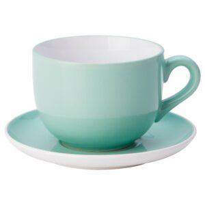 НОРДБИ Чашка чайная с блюдцем, светло-зеленый 73 сл - 004.630.57