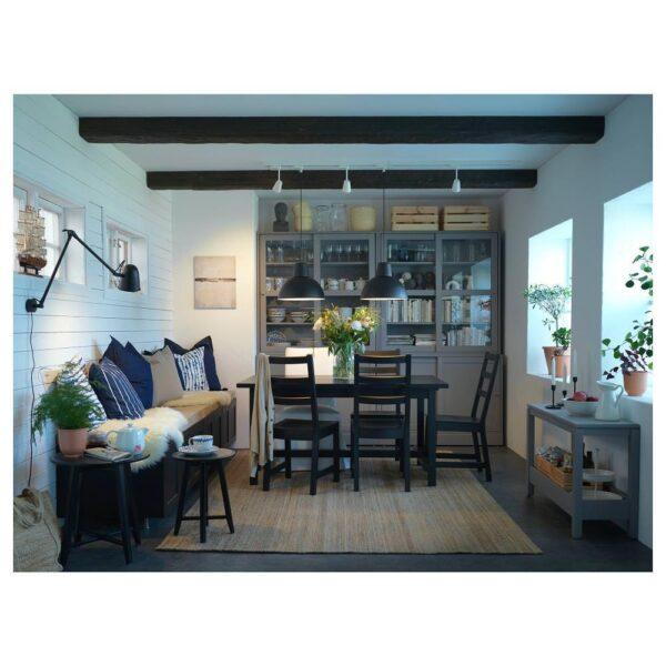 НОРДВИКЕН / НОРДВИКЕН Стол и 4 стула, черный/черный 152/223x95 см - 193.051.57
