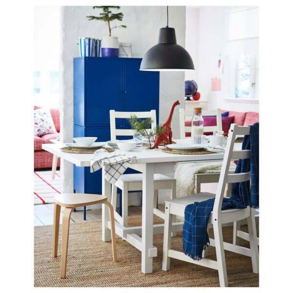 НОРДВИКЕН Раздвижной стол, белый 152/223x95 см - 003.696.01