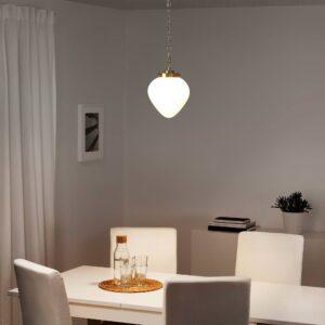 ОТЕРСКЕН Подвесной светильник, молочный стекло/лук - 304.370.76
