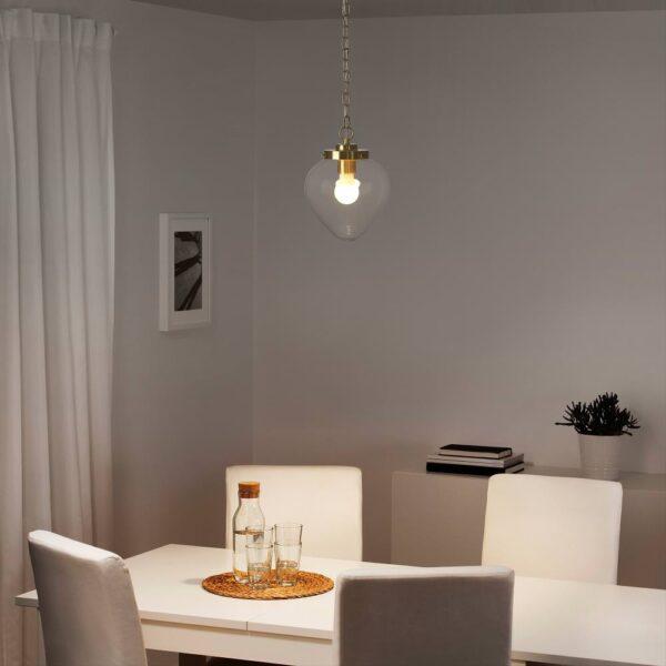 ОТЕРСКЕН Подвесной светильник, прозрачное стекло/лук - 504.370.80