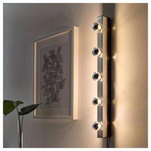СИЛЛЬБУ Светодиод E14 140 лм, шарообразный/зеркальный верх, серебристый 45 мм - 704.117.86