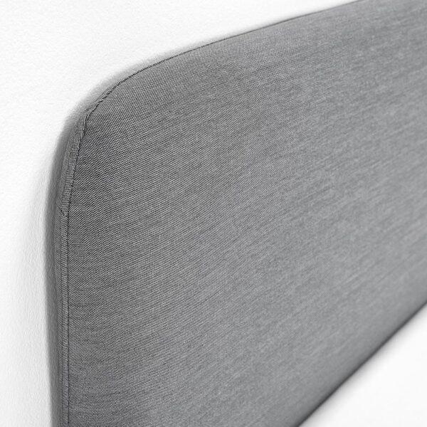 СЛАТТУМ Каркас кровати с обивкой, Книса светло-серый 160x200 см - 204.463.78