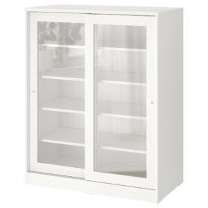 СЮВДЕ Шкаф со стеклянными дверцами, белый 100x123 см - 904.395.67