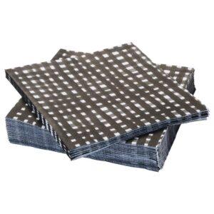 УРЛАДДА Салфетка бумажная, черный/белый 33x33 см - 804.159.01