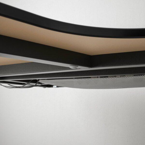 БЕКАНТ Стол, комбинация, ясеневый шпон/черная морилка/черный 320x220 см - 392.826.16