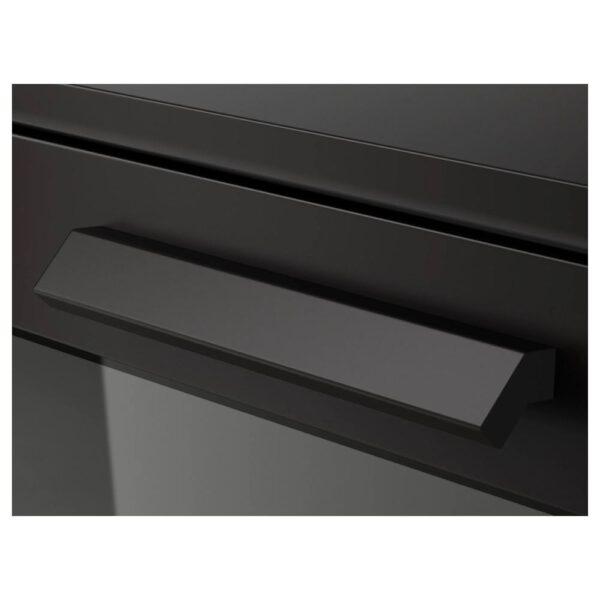 БРИМНЭС Комод с 4 ящиками, черный/матовое стекло 39x124 см - 304.090.02