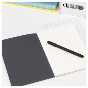 ФУЛЛФОЛЬЯ Книжка для записей, черный 21x15 см - 704.282.68