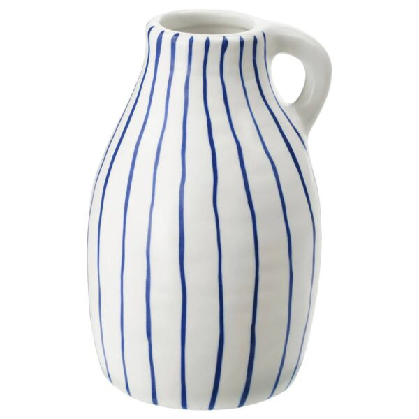 ГОДТАГБАР Ваза, керамика белый/синий 14 см - 304.367.36