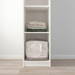 КЛЕППСТАД Открытый гардероб, белый 39x176 см - 104.417.67
