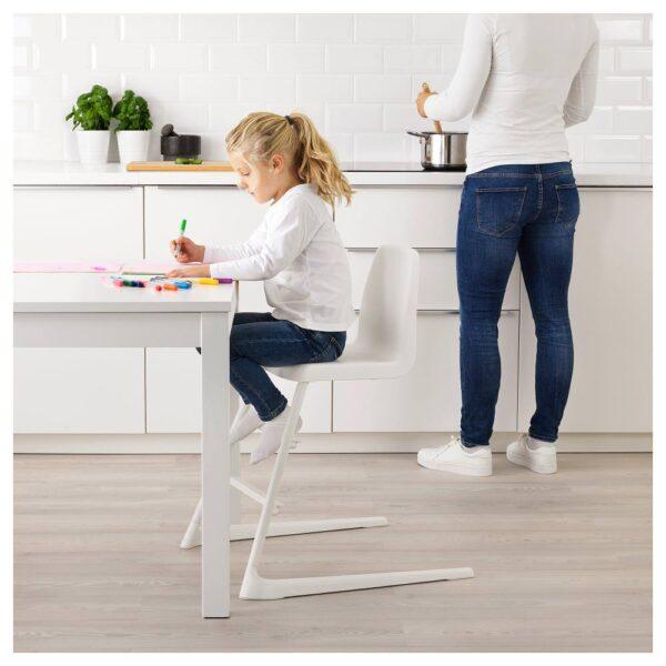ЛАНГУР Детский стул, белый - Артикул: 592.526.18