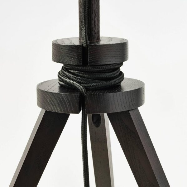 ЛАУТЕРС Лампа настольная, коричневый ясень/белый - 604.058.23