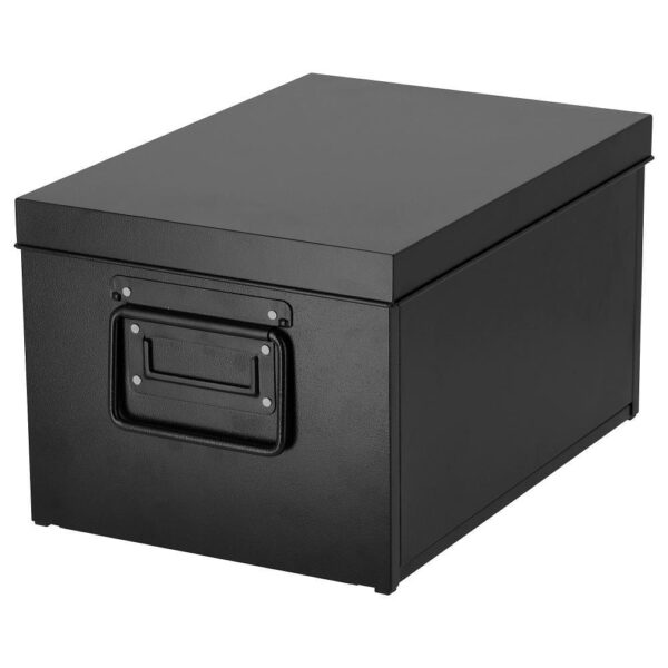 МАНИКК Коробка с крышкой, черный 25x35x20 см - 103.889.01