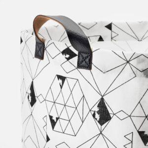 ПЛУМСА Мешок для белья, белый/черный 60 л - 204.531.37