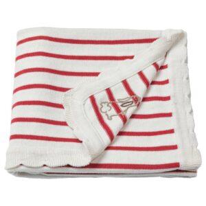 РЁДХАКЕ Одеяло детское, в полоску/белый/красный 80x100 см - 604.402.37