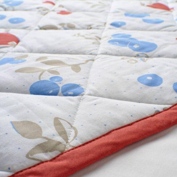 РЁДХАКЕ Одеяло/плед, орнамент «кролики/черника»/белый/красный 96x96 см - 104.402.30