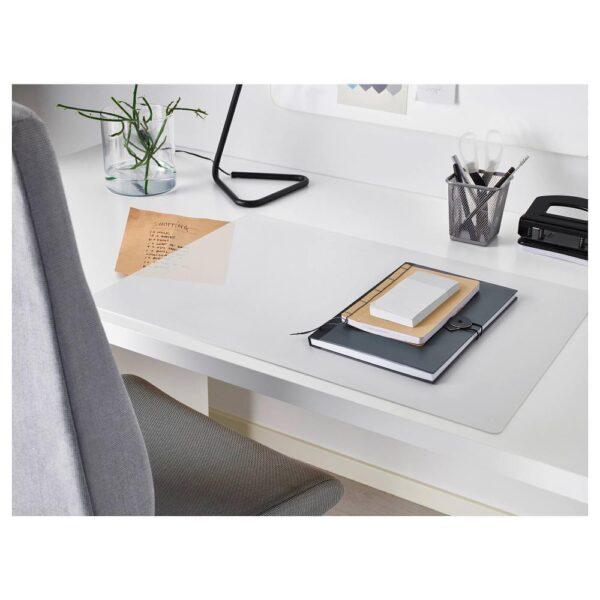 СКВАЛЛЬРА Подкладка на стол, белый/прозрачный 60x80 см - 804.518.90